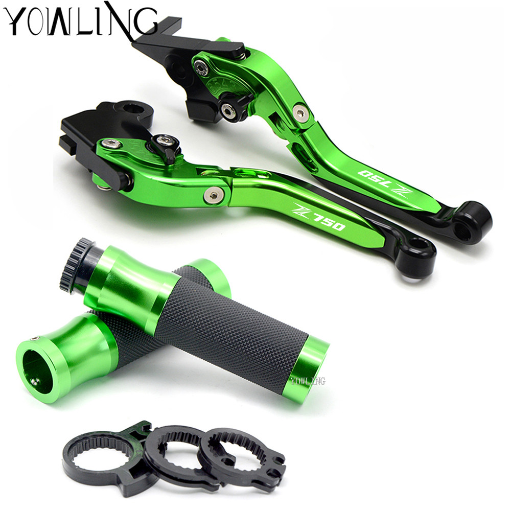 LOGO Z750 For KAWASAKI Z750R Z 750R Z750 R 2011-2012 Motorcycle Accessories Extendable Brake Clutch Levers handle bar hand grips logo z750 for kawasaki z750s z 750s z750 s 2006 2007 2008 motorcycle accessories folding extendable brake clutch levers 20 color