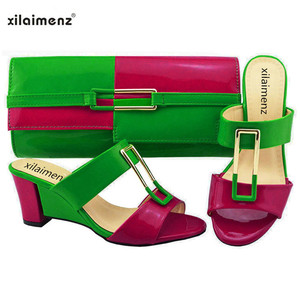 Image 4 - New Shop 40% Discount 2018 New Arrival Ladies Nigerian Shoes and Matching Bags Hot Sales Women Fashion Wedges Mix Color