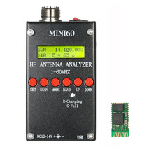 SARK100 1-60MHz Mini60 Antenna Analyzer AD9851 HF ANT SWR Meter for Ham Radio + Bluetoo Module(China)