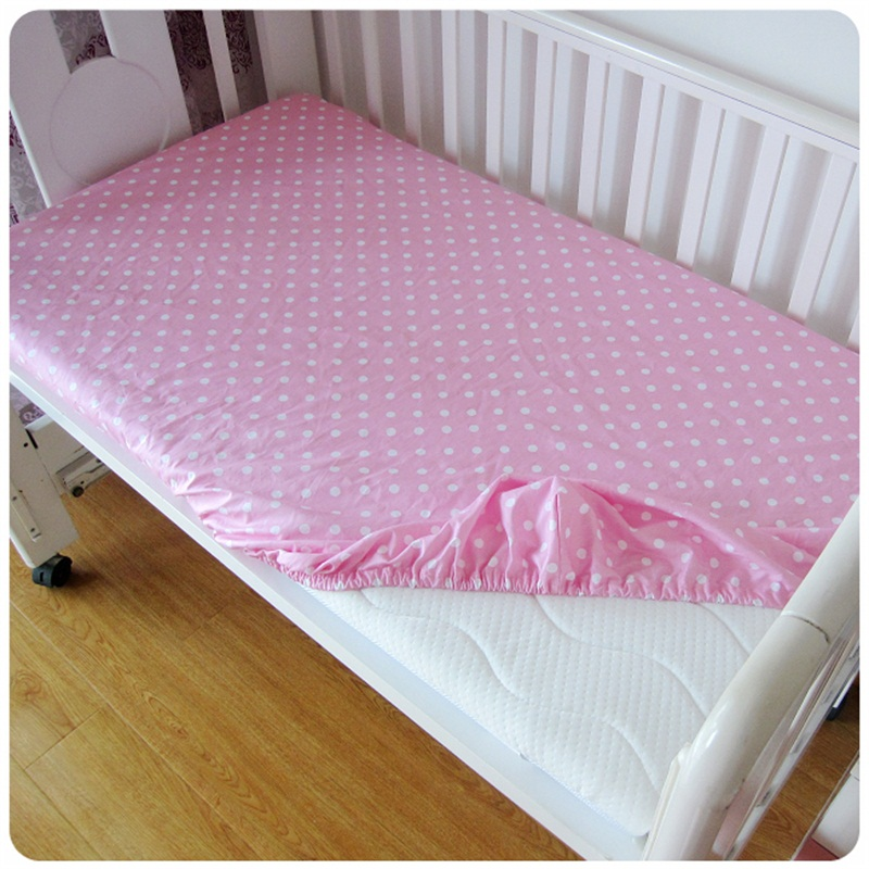 hot sale cotton baby fitted sheet cartoon crib mattress cover elastic around kids bed cover 120