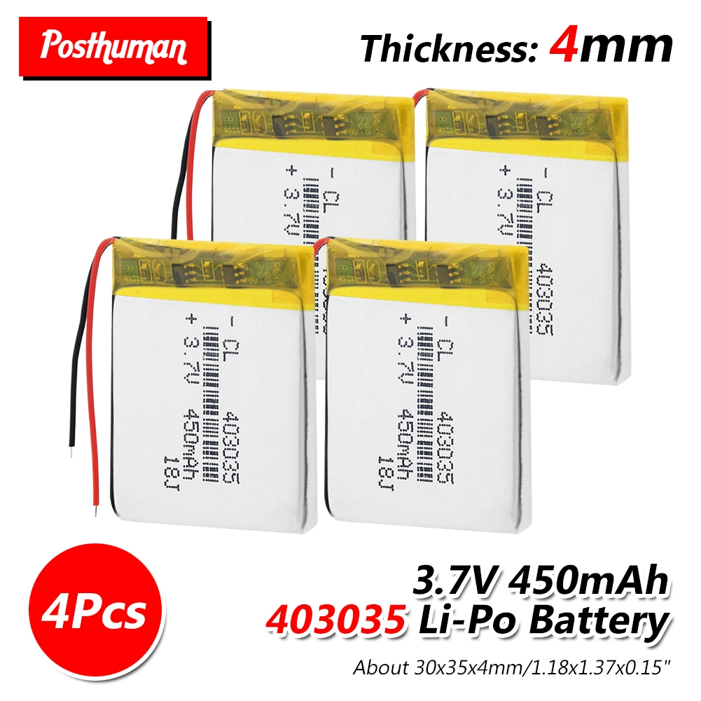 3.7V 450mAh 403035 Rechargeable Lithium Polymer Li-Po Li Ion Battery Lipo Cells For MP3 MP4 GPS Electric Toy Massage Instrument
