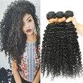 Onda profunda Brasileña Del Pelo 3 Bundles 3B 3C Rizado Rizado Virginal 8a pelo rizado afro del pelo humano extensiones honey queen productos para el cabello
