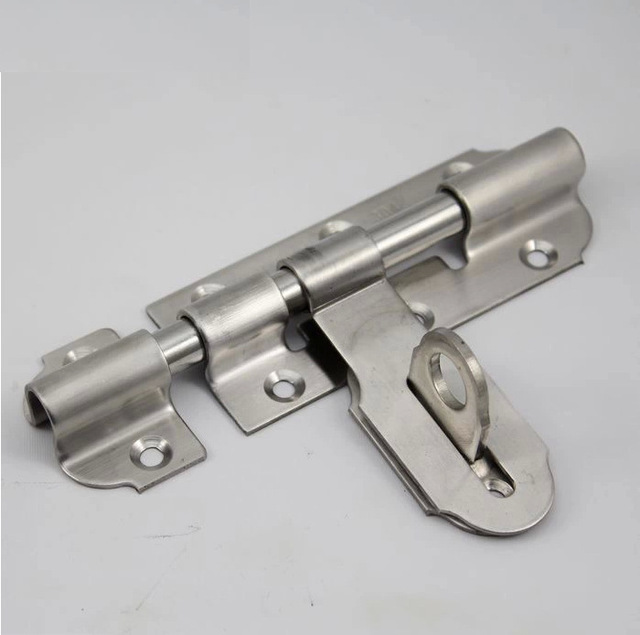 4 inch Brand New Thickening stainless steel door bolt padlock lock pin buckle Free Shipping : pin door - pezcame.com
