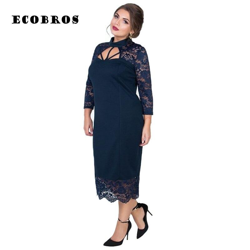 Big size 6XL Fat MM 2019 Spring Women Dress dress plus Big size Lace Dress Bodycon Female Elegant Party Office Dress Vestidos