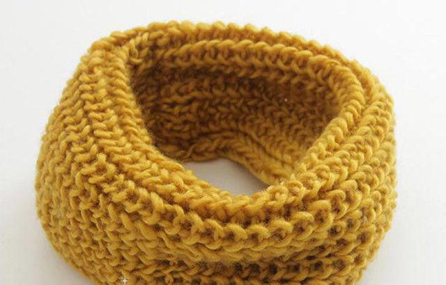 2017 Hot Selling Winter Neckerchief Ladies  & Children's Size Woollen Knitted O Ring Muffler