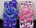 Luxo bling cristal diamond case completa strass flor tampa traseira para samsung galaxy s6 edge s7 j1 j3 j5 j7 2016 j310 J710