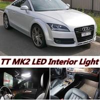 Tcart 5 unids envío gratis Free Error Bombillas LED Auto Car Interior luces accesorios de Lámparas Para Audi TT mk2 8J Kit Blanco 2006-2014