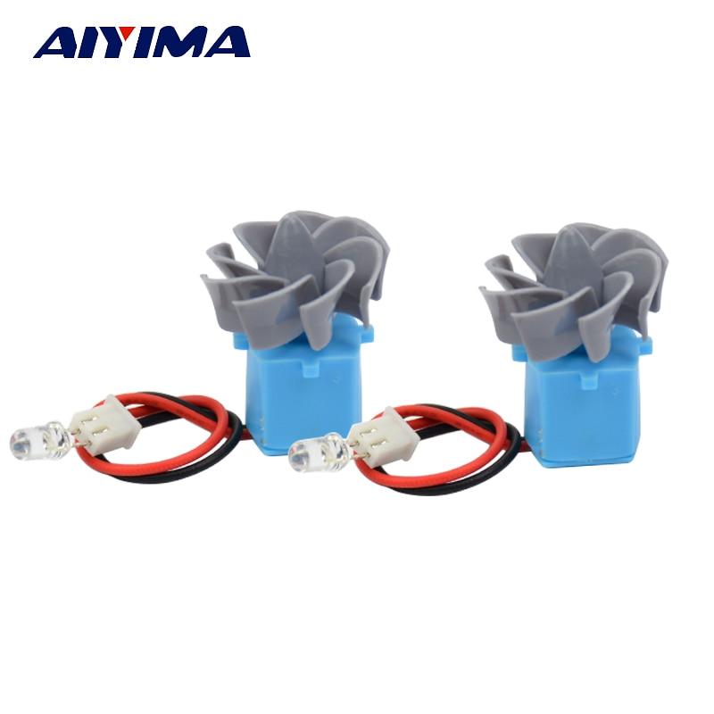 все цены на AIYIMA 2pcs 0.01-15V Micro Wind Hydro Turbines Hydraulic Dual Wind Generator Model Generator Free Shipping