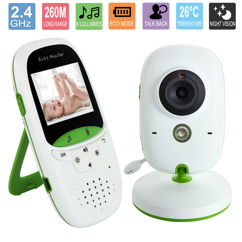 2.0 inch Wireless baby monitor with camera Video electronic Security VB602 2 Talk Nigh Vision IR LED Temperature Monitoring baby sleeping monitor color video wireless with camera baba electronic security 2 talk nigh vision ir led temperature monitoring