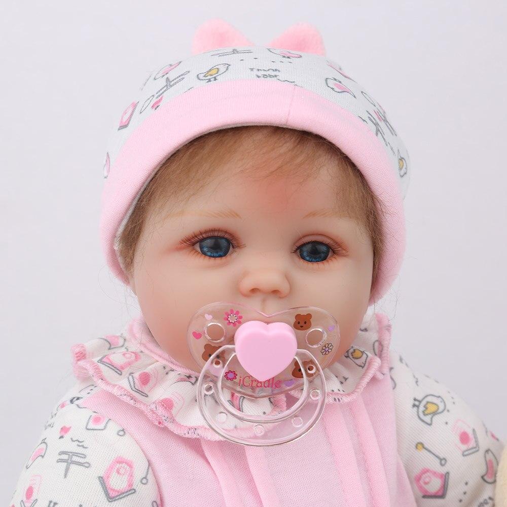"""Image 4 - NPKDOLL Кукла реборн 45 см Рождественский подарок для девочек 17 дюймов Baby Alive мягкие игрушки """"Цыплята"""" для девочек Lovely Bebe Reborn-in Куклы from Игрушки и хобби"""