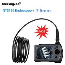 7.6mm borescope Camera New NTS150 3.5 color LCD Display Monitor Inspection Endoscope 6 LEDS Borescope 7.6mm Snake Tube Camera цена