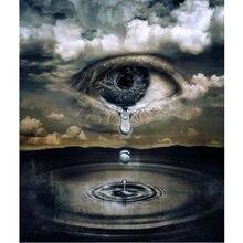 100% Полный 5d diy daimond картина слезы пейзаж 3d Алмазная