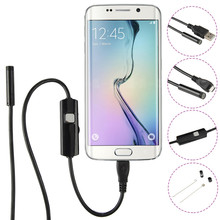 6LED мини Камера для мобильного телефона инспекции эндоскоп Micro USB Android телефон эндоскоп Камера 1 м 2 м 3.5 м HD720P Малый Cemera