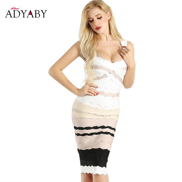 ef9b2f08f76 Sexy Bandage Dress Women Summer 2018 New Arrivals Club Party Dresses Ladies  Knee Length Spaghetti Strap