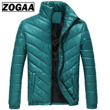 High Quality Youth Mens Cotton Clothing Autumn Winter Worm Plus Size Twill Male Jacket Stand Collar Coat ZOGAA