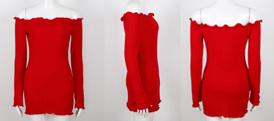 HTB1P1Pwbm7PL1JjSZFHq6AciXXay - FREE SHIPPING Women Sexy Off Shoulder  Bodycon Dress Knitted Elastic Sweater JKP304