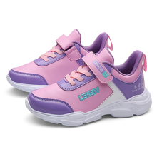 ULKNN Childrens sports shoes autumn 2019 new leather comfortable student running in the big boy girl pink