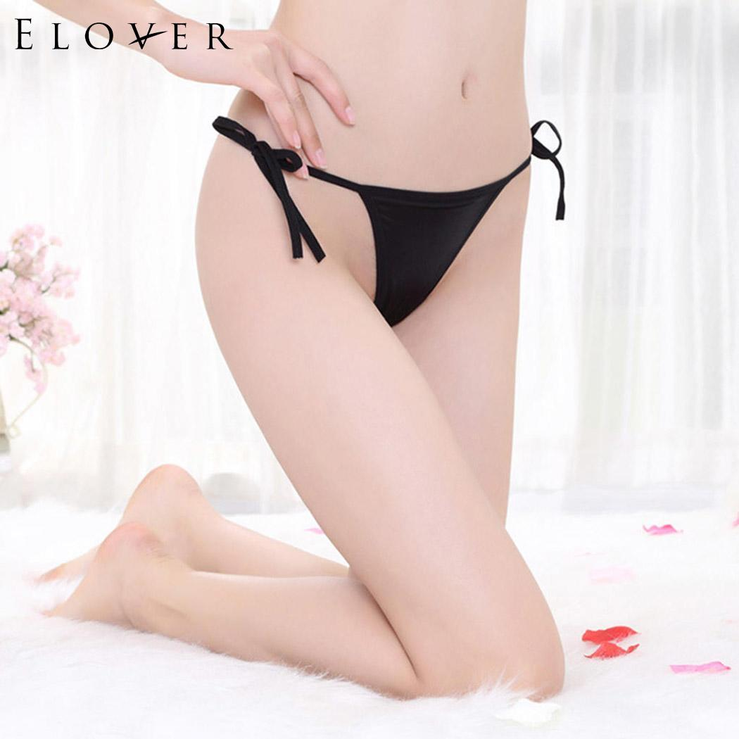 Buy Elover Erotic Thongs Women Sexy Lingerie Low Waist Lace Strap Crotchless Transparent Panties Sexy Underwear Culotte Femme