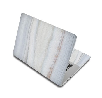 White And Gray Marble Laptop Skin Sticker For Laptop And Macbook 1