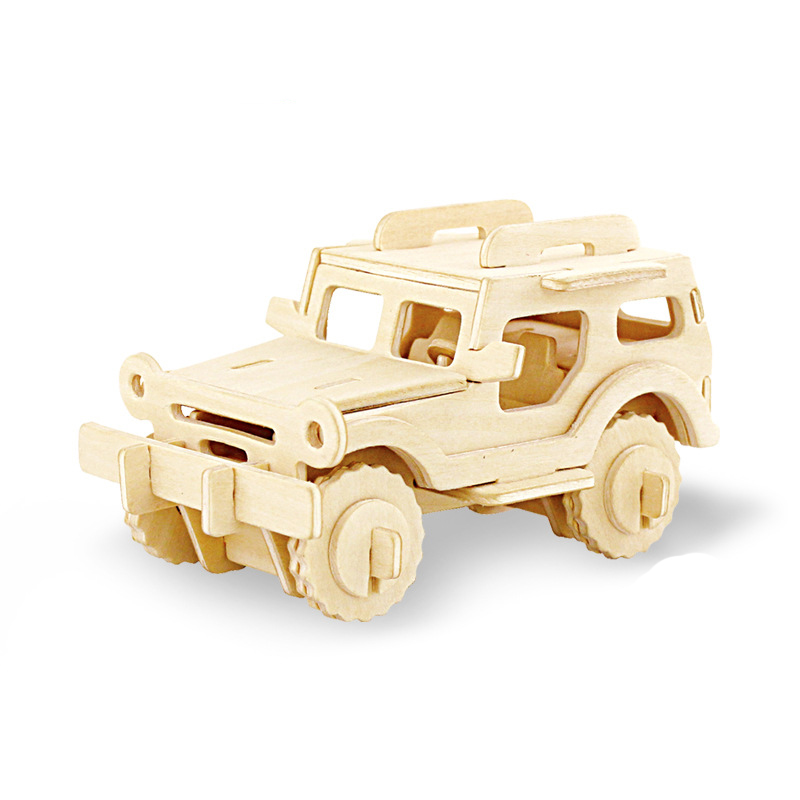 1pcs Kids Table car Puzzles Games  DIY Vehicle car Puzzles Wooden Model Board Games Assembly Toy Gift for Kids Educational Games