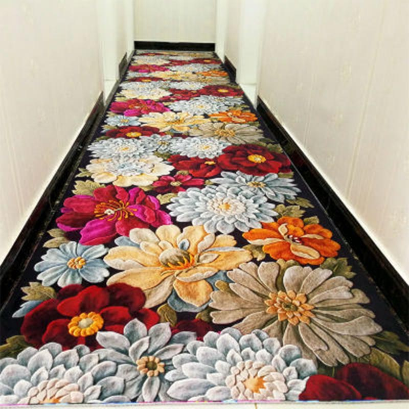 Long 3d Hallway Stair Carpet Tapis Salon Floor Carpet balcony Hotel dywany ковровая дорожка tapis mariage For Sale