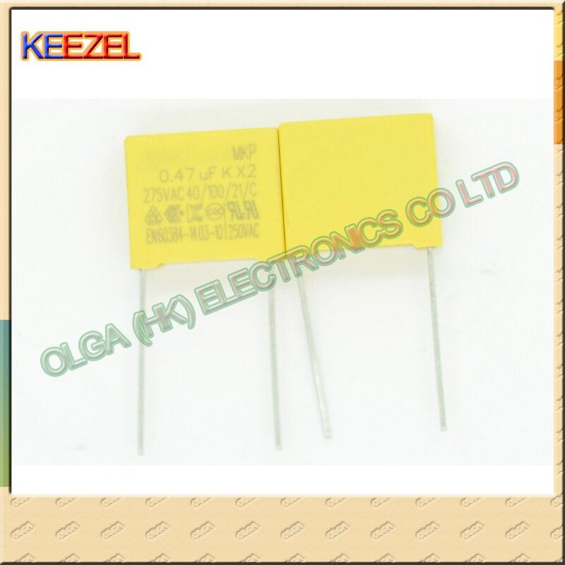Безопасности X2 конденсатор 0.47 МКФ 474 К 275 в переменного тока ноги 15 мм от новые предметы интерьера двойной корона