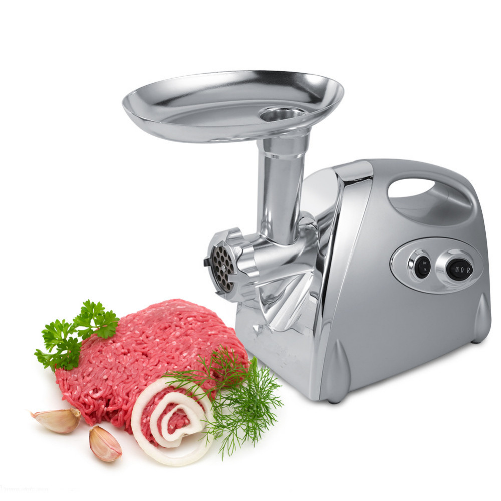 Silvery Appliances Mincer Chopper Sausage Beef Kitchen Electrical Meat Grinder