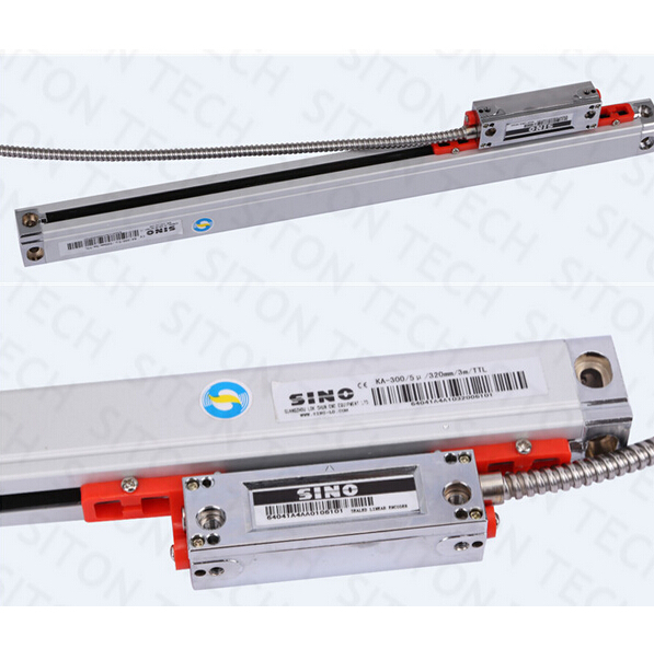 Free shipping high precision lathe and milling 0.005mm /0.001mm Sino KA300 820mm linear encoder KA-300 820mm linear glass scale free shipping high precision easson gs11 linear wire encoder 850mm 1micron optical linear scale for milling machine cnc