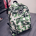 IVI Hot men and women printing leaves backpacks mochila rucksack fashion canvas bags retro casual school bags travel bags