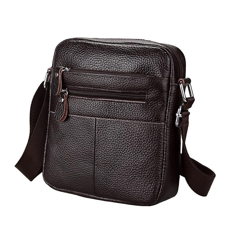 Fashion Design Men Messenger Bags Genuine Leather Business Cow Leather Small Shoulder Bags Mens Crossbody Bag Bolsa Masculina