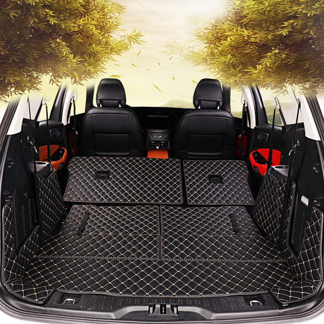 Custom Car Trunk Mat for Car Trunk Mats For Toyota Land Cruiser Prado 2011-2017 7 Seats Waterproof Boot Carpets highlander