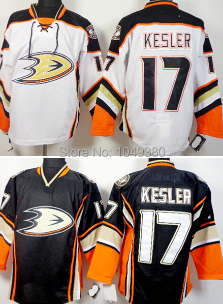new arrival 6709d c70f9 US $29.66 |NEW Wholesale Anaheim Ducks #17 Ryan Kesler Jersey 3rd Third  Black White Men's Embroidery Logos Ice Hockey Jerseys Mixed Order-in Hockey  ...