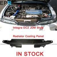 Integra DC2 JDM стиль углеродного волокна радиатор охлаждения панель для Honda Глянцевая волокна крышка двигателя аксессуары