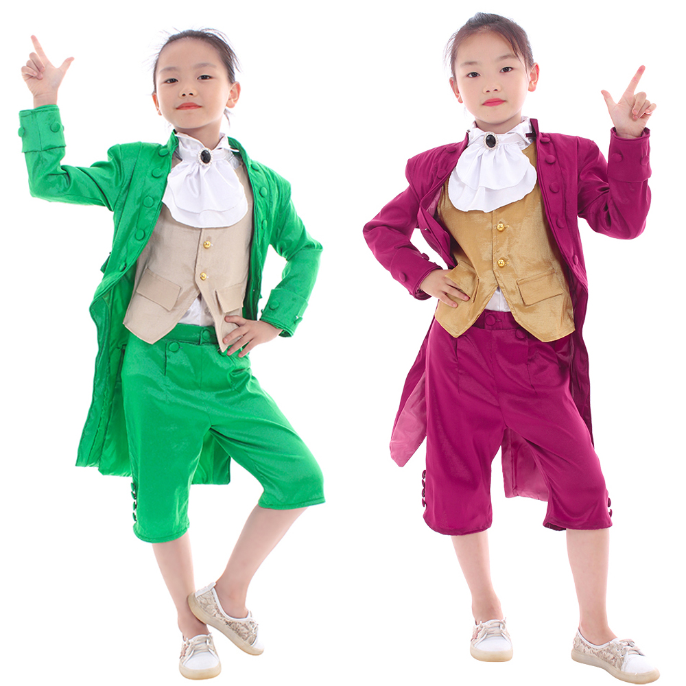 Home Cosplaydiy Kids Victorian Elegant Gothic Aristocrat Suit 18th Century Boys Girls Medieval Retro Gothic Ball Gown Suit L320 Reasonable Price