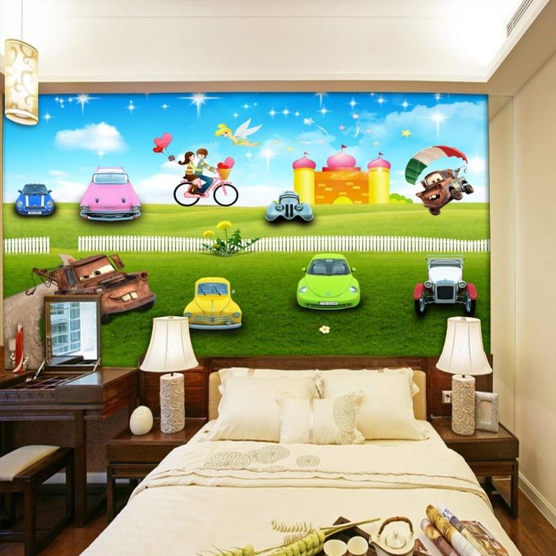cartoon background mural custom lobby studio children 3d wall
