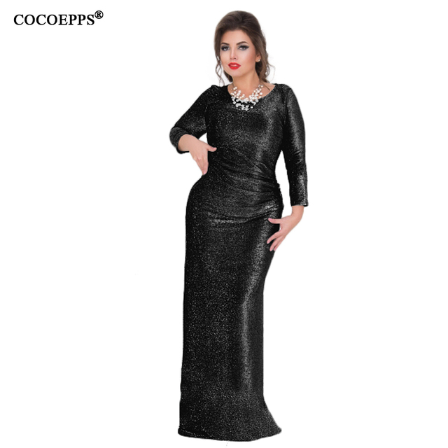 ... 2018 5xl 6xl Big Size Maxi Long Dress Spring Hot Ladies Shiny Evening  Party Plus Size ... ab87eb723a7f