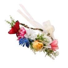 Fashion Cute Kids Wreath Flowers Headband Floral Crown Hairbands Travel Wedding Girls Headwear
