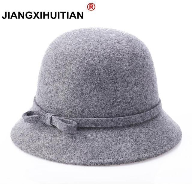 Europa Inglaterra Corea Otoño Invierno mujeres Fedora gorras Vintage sol sombreros  para mujer señora ala ancha 055c6bf6390