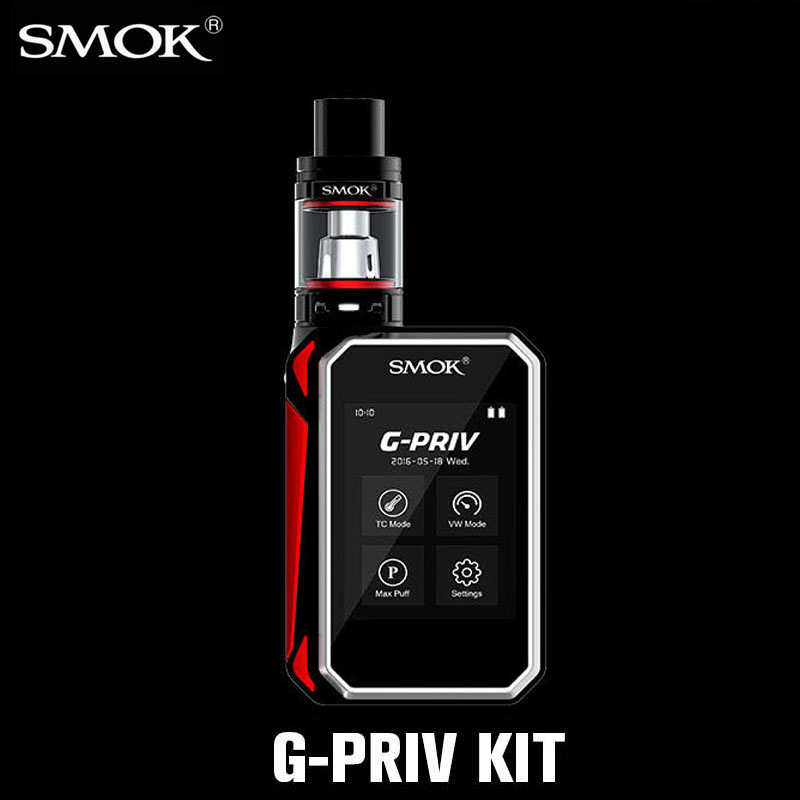 Electronic Cigarette Vaporizer E cigarette Vape Box Mod Kit 1-220W SMOK G PRIV Kit Mechanical Mod with TFV8 Big Baby Tank X1069