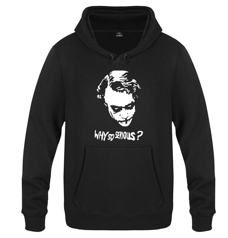 2016 Hot Batman hoodie The Dark Knight joker WHY SO SERIOUS? loose Coat Fall Winter Fashion Men Women Sweatshirts