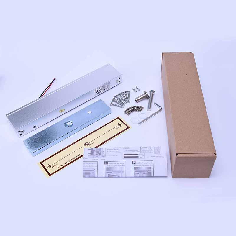 Eseye Controle de Acesso Elétrica Magnetic Door Lock 280 kg (600lbs) 12 v Força de Retenção Com Luz LED Para Única Porta Trava Elétrica