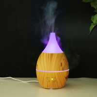 New Wood Grain Aroma Diffuser 300ml 3 Gears Timing Essential Oil Diffuser Beautiful Led Light Air Humidifier For Home Bedroom