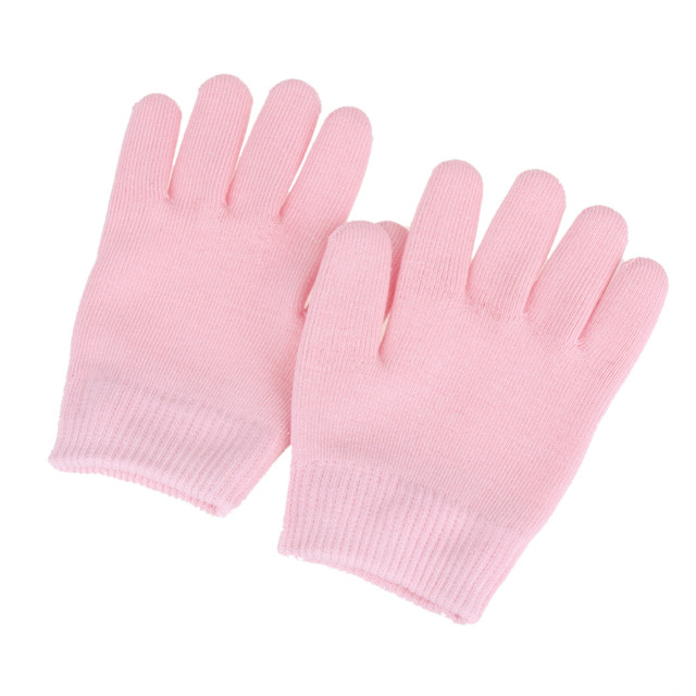 1 set. Silicone Socks Gloves Reusable Spa Gel Moisturizing Socks Gloves Whitening Exfoliating Treatment Smooth Face Mask Foot Care