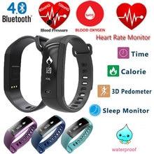 M2 smart Сердечного ритма Приборы для измерения артериального давления кислорода Мониторы Браслет Шагомер Спорт наручные часы вызова/SMS напоминание для IOS Android