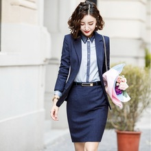 Fall and Winter Fashion Long Sleeve Professional Suit Womens Workwear White-collar