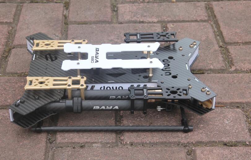 Daya680 Daya 680 Folding 4-Axis Carbon Fiber Quadcopter Frame w/Landing Gear for FPV