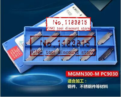 Free Shipping MGMN300 M PC9030 Korloy Grooving carbide inserts for MGEHR MGIVR Suitable for processing of