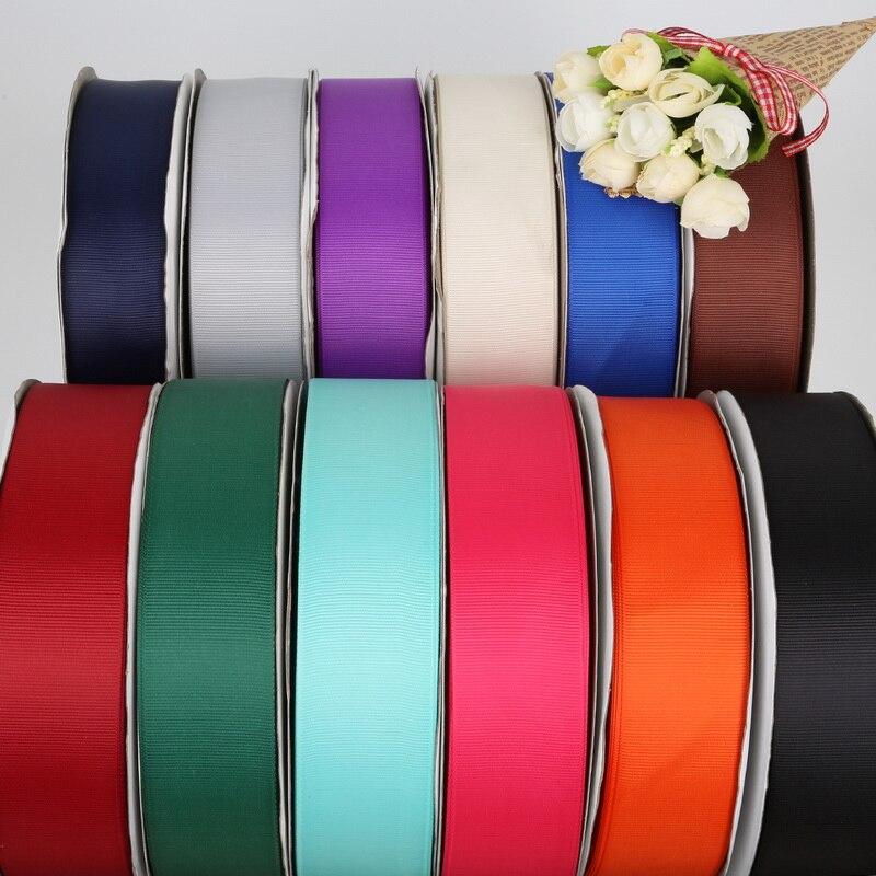 Лидер продаж 5 ярдов смесь цветов Ширина 38 мм Grosgrain Ленты для Свадебная вечеринка украшения DIY подарочная упаковка Скрапбукинг ремесла
