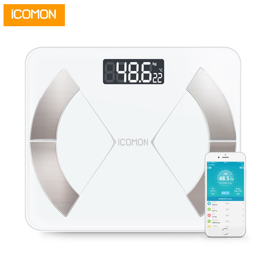 ICOMON i31 Digital Smart Bathroom Scales Floor Electronic Human Weight Scale Body Fat mi Weighing Scale Bluetooth Balance bmi(China)