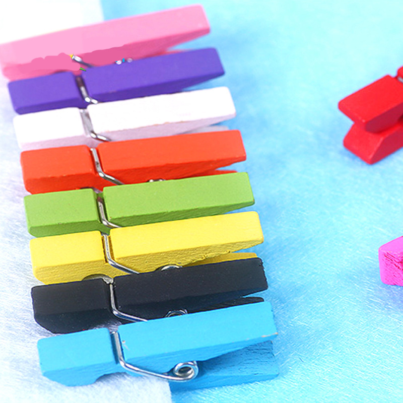 Child Toy 10 Pieces 3.5CM DIY Hand-decorated Color Wooden Clip Children Toy Toys Girl Crafts Kids Craft Kits Toys For Children